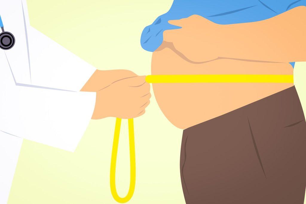 お腹に脂肪が付く原因の画像